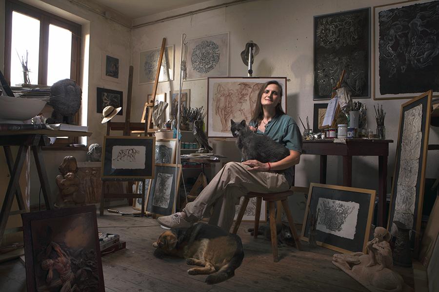 Marta Polli, scultrice / pittrice