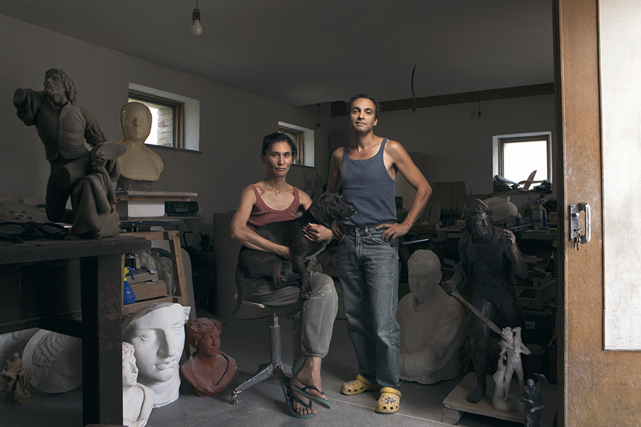 Seung Hee Baik e Alberto Fiorni, scultori
